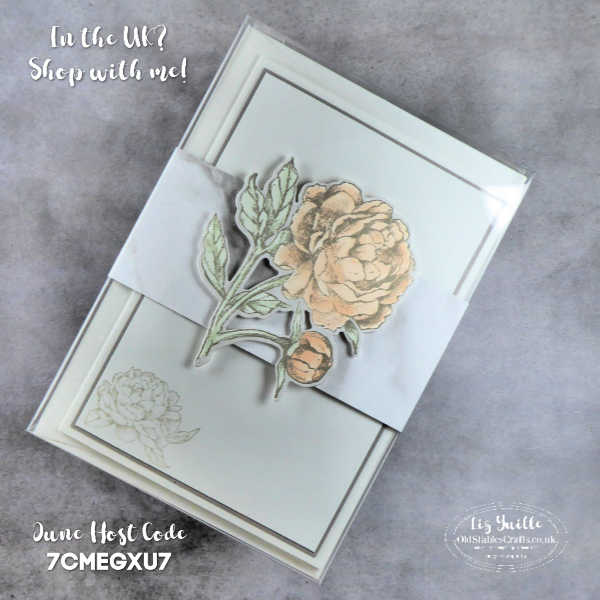 Quick, Easy and Elegant Prized Peony Stationery Gift Set OldStablesCrafts.co.uk