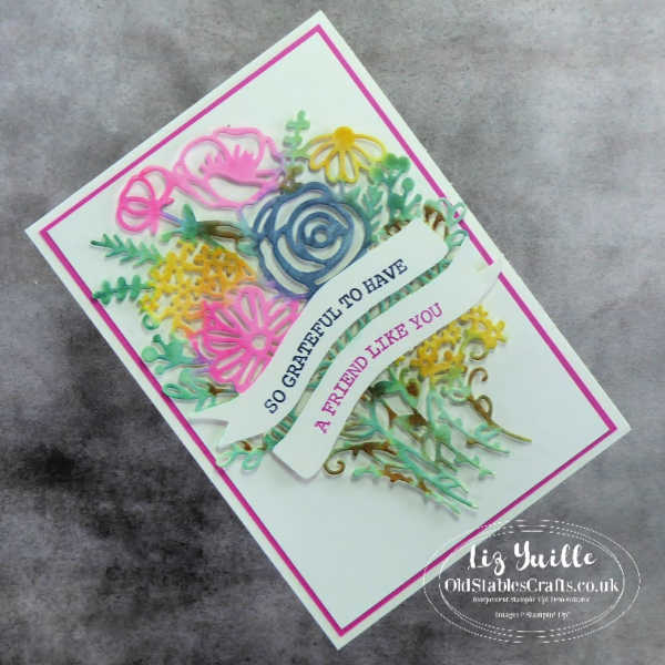 #SimpleStamping Saturday With Hand-Drawn Blooms Bundle Avid Card OldStablesCrafts.co.uk