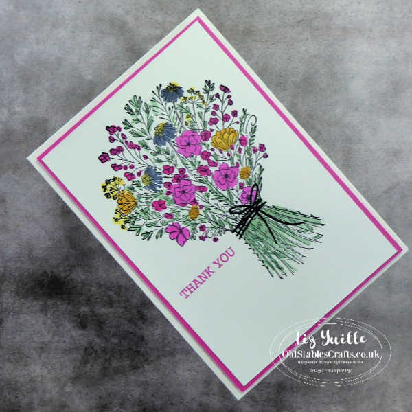 #SimpleStamping Saturday With Hand-Drawn Blooms Bundle Casual card OldStablesCrafts.co.uk