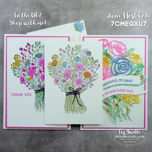 #SimpleStamping Saturday With Hand-Drawn Blooms Bundle OldStablesCrafts.co.uk