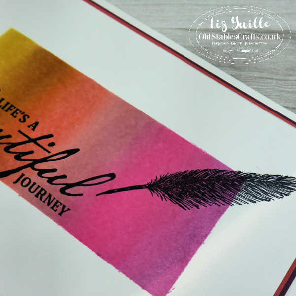 Ink Blending Tutorial with Beautiful World OldStablesCrafts.co.uk