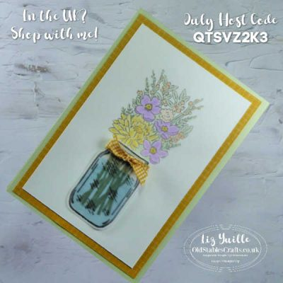 Jar of Flowers Embossed and Coloured Mason Jar