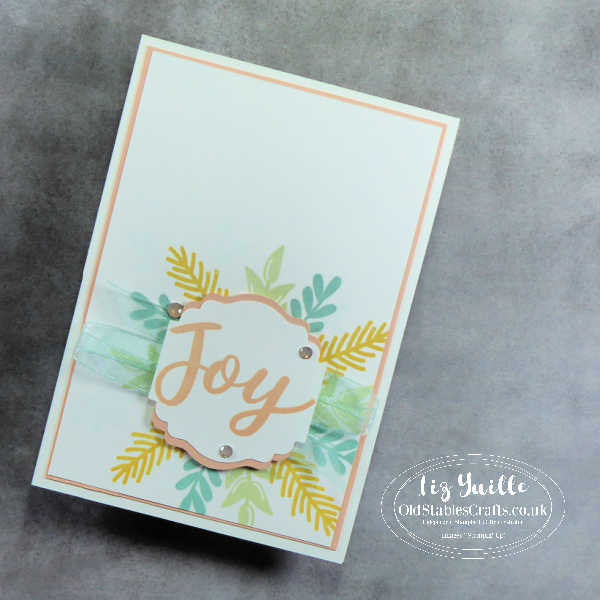 #SimpleStamping Saturday - Peace & Joy - Not Just for Christmas OldStablesCrafts.co.uk