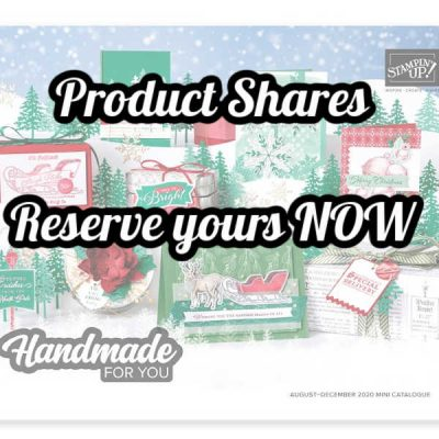 August/December Mini Catalogue – Product Shares – Reserve yours NOW!