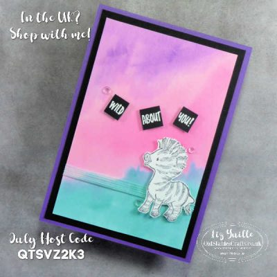 Zany Watercolour Background for Zany Zebras – and an introduction to the new Water Painters