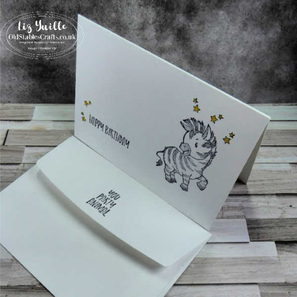 #SimpleStamping Saturday Zany Zebras Quick and Simple OldStablesCrafts.co.uk