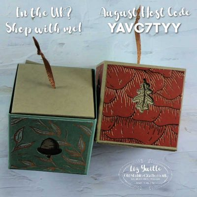 Gilded Autumn Upside Down 'Lidded' Gift Box