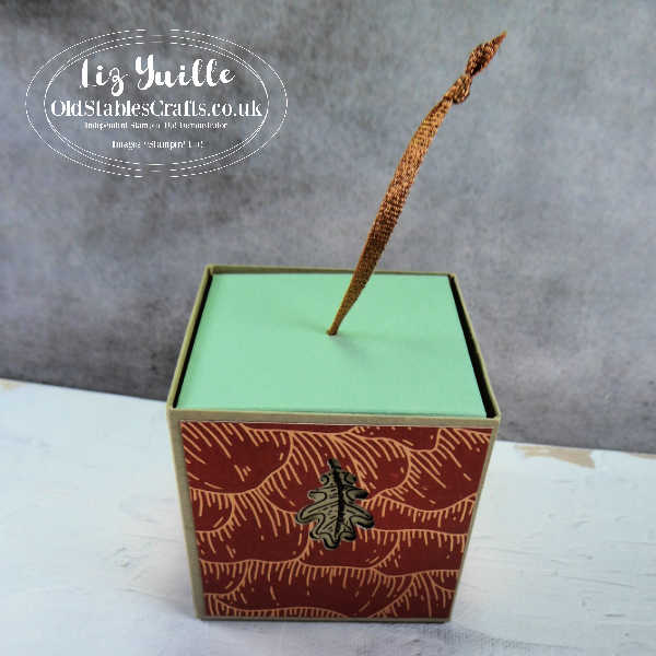 Gilded Autumn Upside Down 'Lidded' Gift Box OldStablesCrafts.co.uk