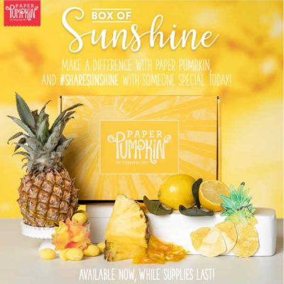 Paper Pumpkin – Box of Sunshine