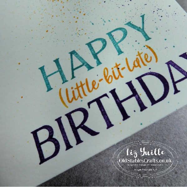 #SimpleStamping Saturday - Happiest of Birthdays - OldStablesCrafts.co.uk