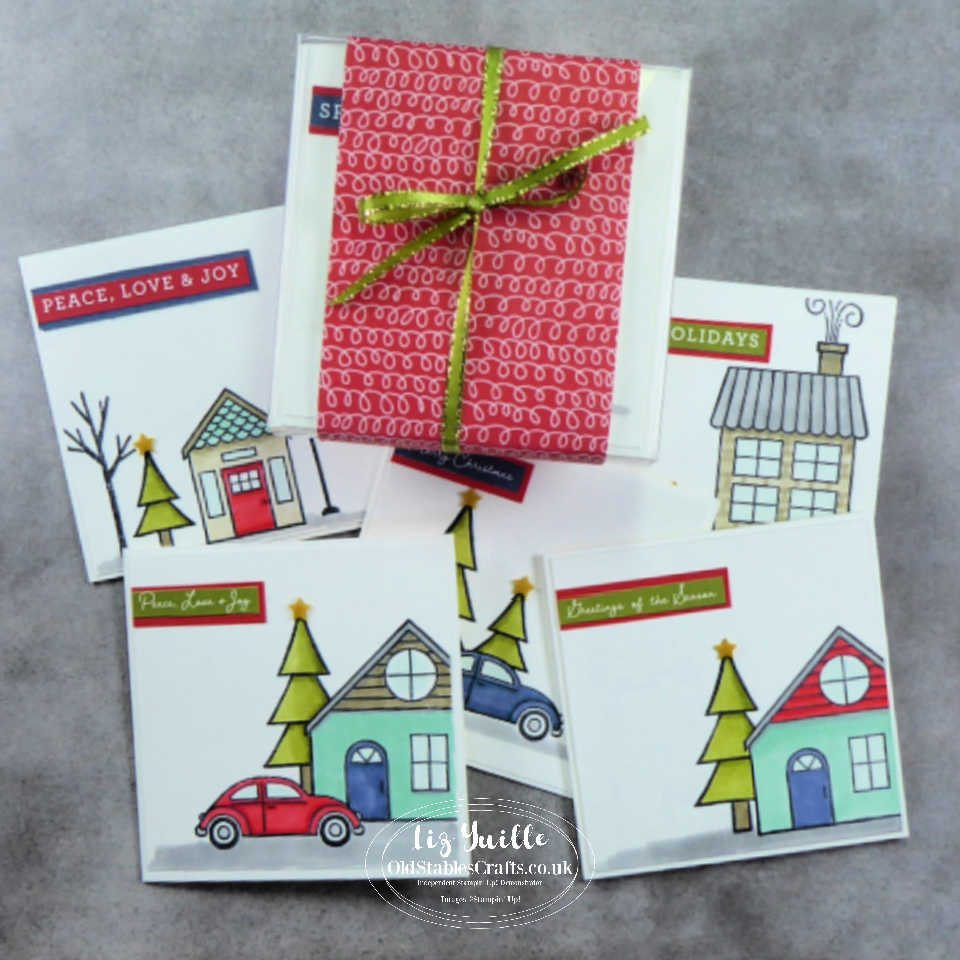 Trimming the Town Mini Gift Card Gift Set OldStablesCrafts.co.uk
