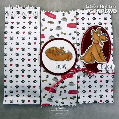 Playful Pets Treat Bag for #SimpleStamping Saturday