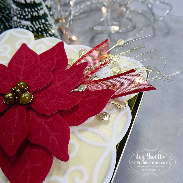 Poinsettia Place Gold Mini Pizza Box OldStablesCrafts.co.uk