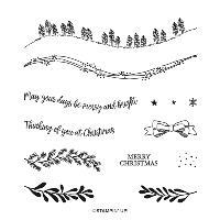 CURVY CHRISTMAS PHOTOPOLYMER STAMP SET OldStablesCrafts.co.uk