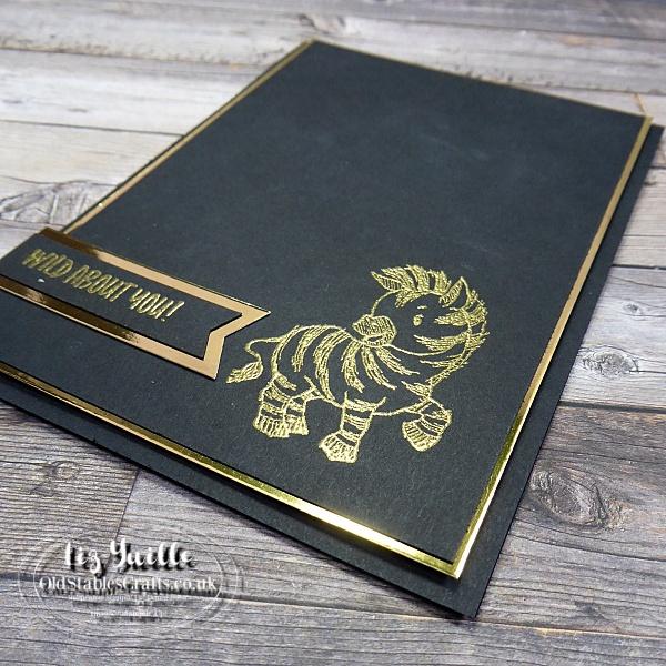 Zany Zebras in Gold Heat Embossing - OldStablesCrafts.co.uk
