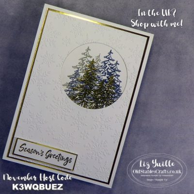 How to Make a Christmas Card Using In the Pines and Winter Snow