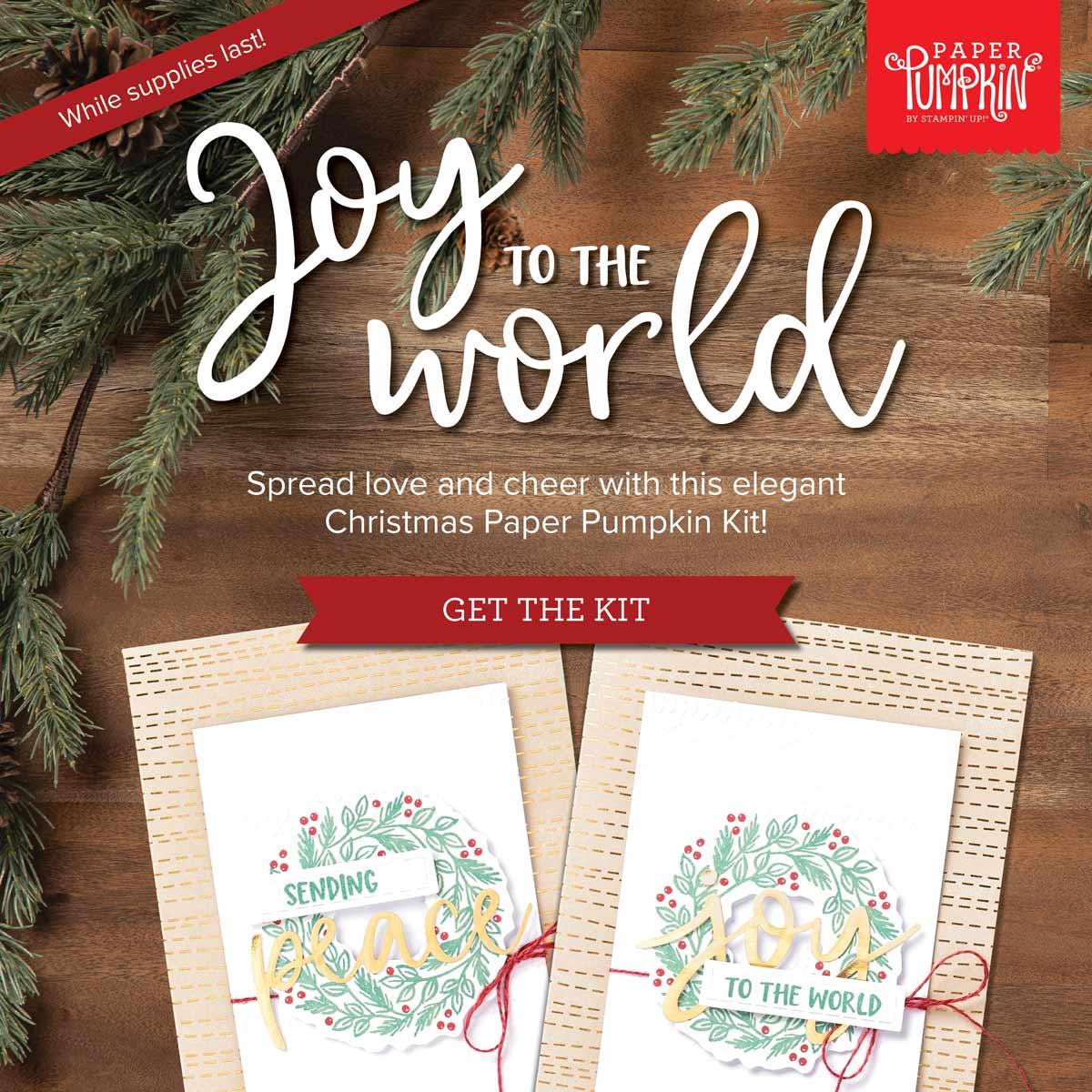 Joy to the World Paper Pumpkin OldStablesCrafts.co.uk