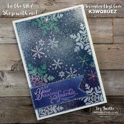 The Spot Challenge #136 – Emboss Resist Snowflake Wishes