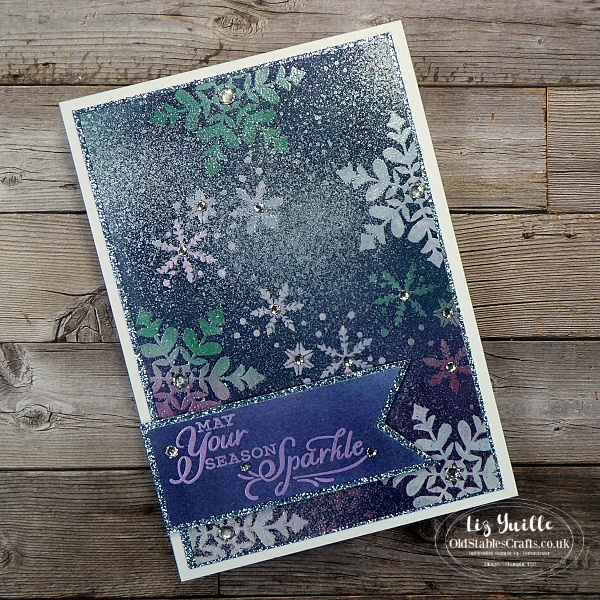 The Spot Emboss Resist using Snowflake Wishes and Snowflake Splendour OldStablesCrafts.co.uk