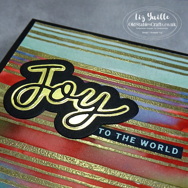 Joy to the World Peace and Joy Gold Heat Embossed Christmas Card OldStablesCrafts.co.uk