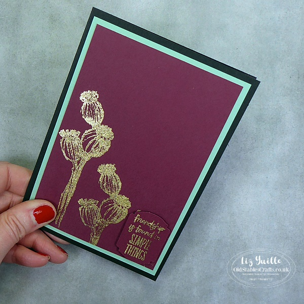 Enjoy The Moment using Gilding Flakes OldStablesCrafts.co.uk