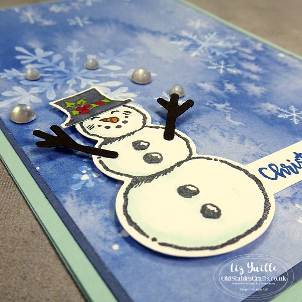 Snowman Season and Celebration Label Dies OldStablesCrafts.co.uk