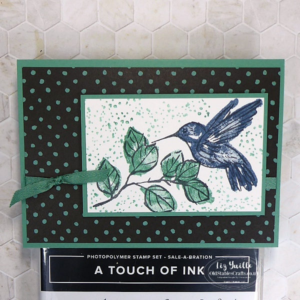 A Touch of Ink Stamp Set with Field & Flowers Paper OldStablesCrafts.com