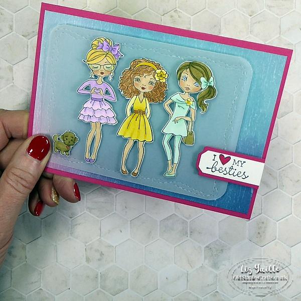 How to Make a Hey Girlfriend Fussy Cut Card - Sneak Peek! OldStablesCrafts.co.uk
