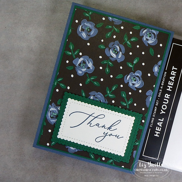 #SimpleStamping Saturday with Heal Your Heart Stamps and Flower and Field Paper OldStablesCrafts.co.uk