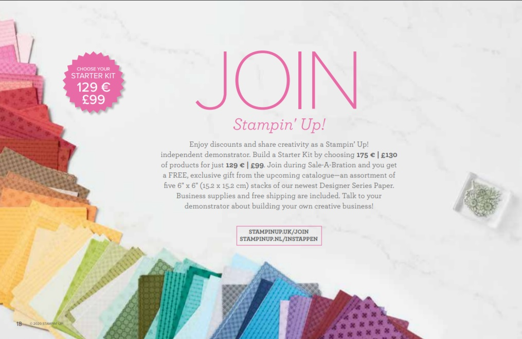 Join Stampin Up and get 200 sheets of paper FREE OldStablesCrafts.co.uk