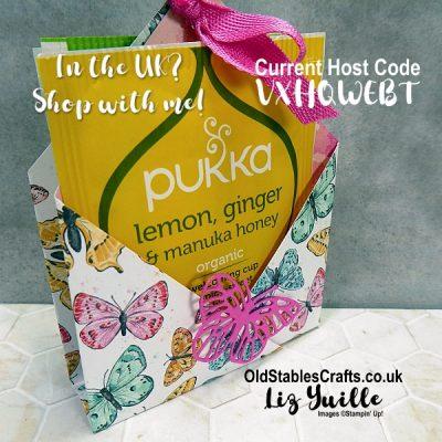 Butterfly Bijou No Cut, No Glue, Tea Bag Gift Bag