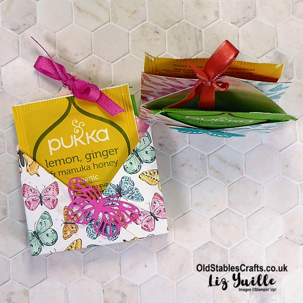Butterfly Bijou No Cut, No Glue, Tea Bag Gift Bag OldStablesCrafts.co.uk
