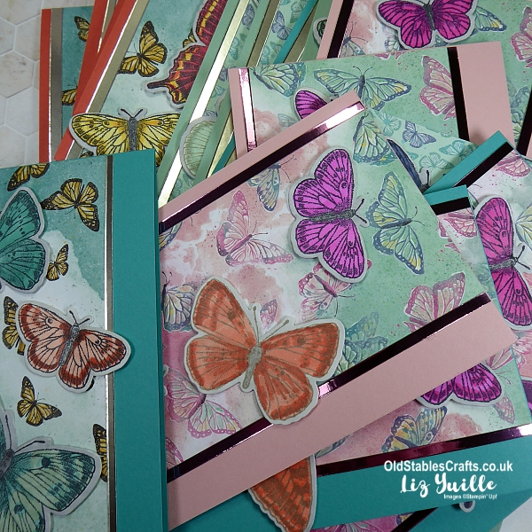 Butterfly Brilliance and Butterfly Bijou Customer Thank You Cards OldStablesCrafts.co.uk