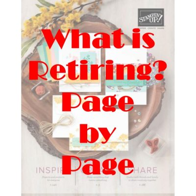 Stampin' Up! 2020 Annual Catalogue – What is Retiring? Page By Page