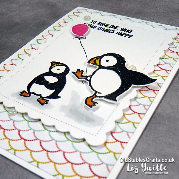 Party Puffins #SimpleStamping card OldStablesCrafts.co.uk