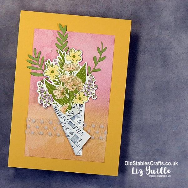 Wrapped Bouquet Bundle Cards OldStablesCrafts.co.uk