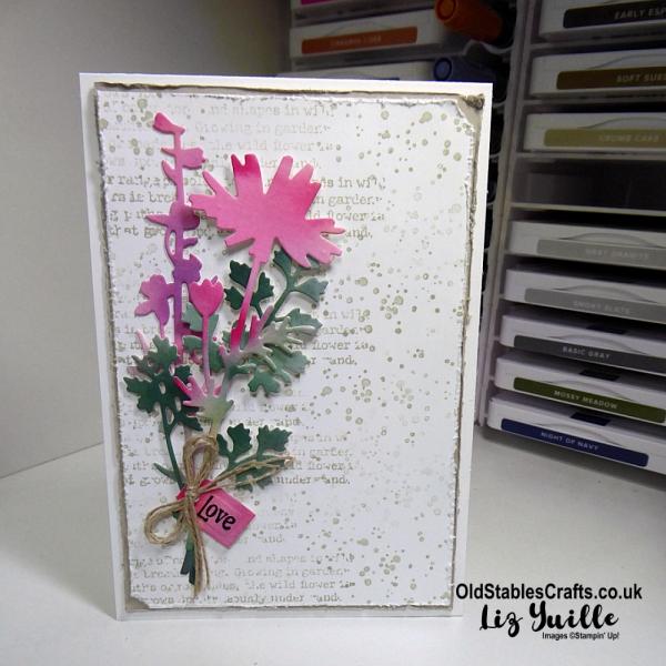 Quiet Meadow Bundle Grunge Card for Blogging Friends Blog Hop OldStablesCrafts.co.uk