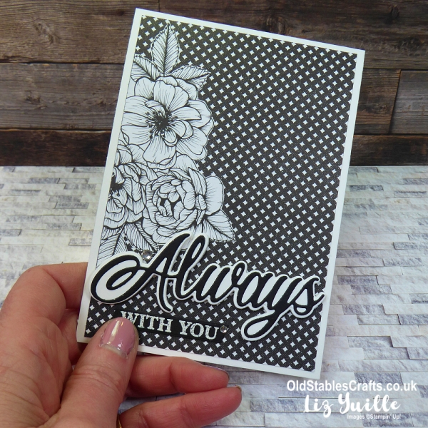 Forever and Always Black and White Card OldStablesCrafts.co.uk