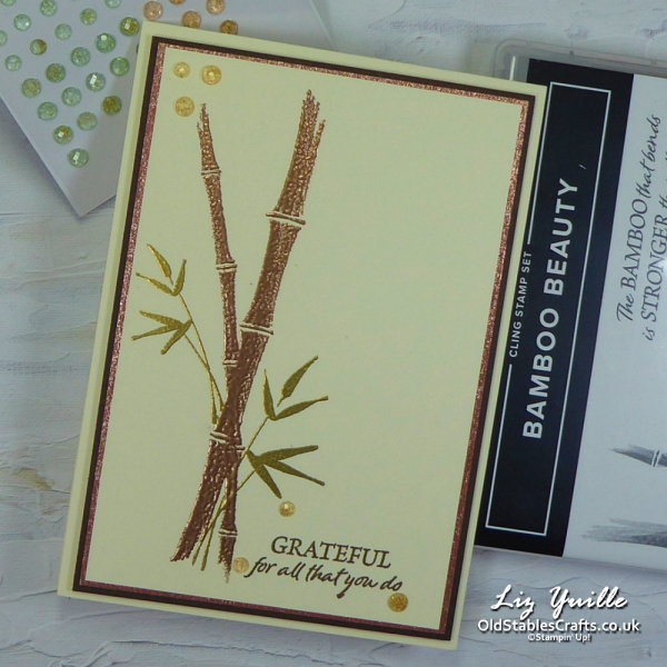 Bamboo Beauty for #SimpleStamping Saturday OldStablesCrafts.co.uk