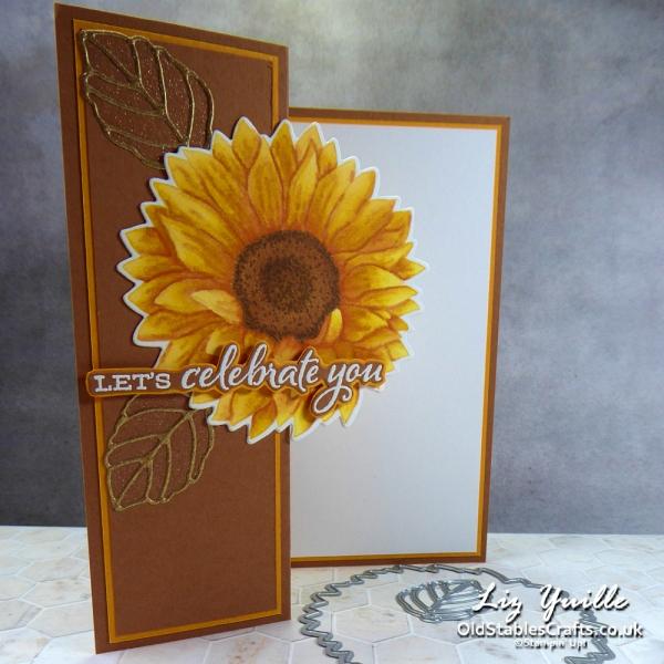 Celebrate Sunflowers no line colouring for Blogging Friends OldStablesCrafts.co.uk