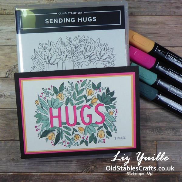 #SimpleStamping Saturday - Sending Hugs Casual cardOldStablesCrafts.co.uk