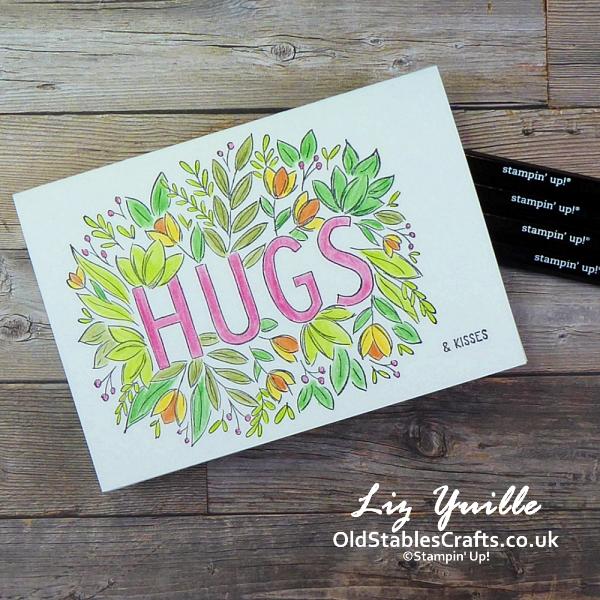 #SimpleStamping Saturday - Sending Hugs Simple OldStablesCrafts.co.uk