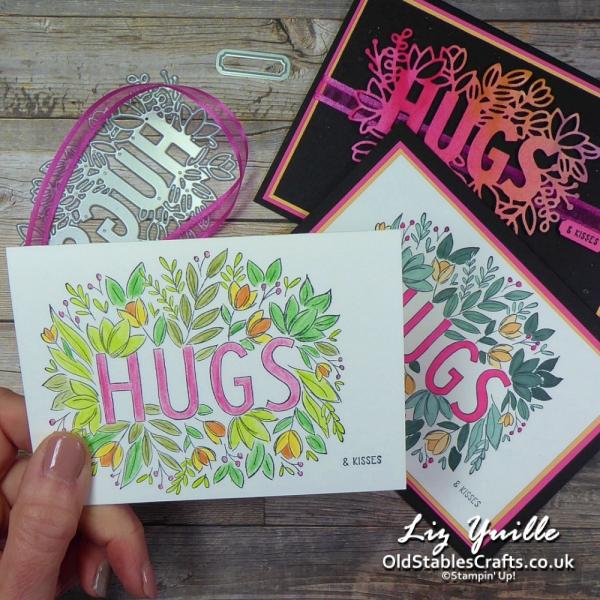 #SimpleStamping Saturday - Sending Hugs All Cards OldStablesCrafts.co.uk