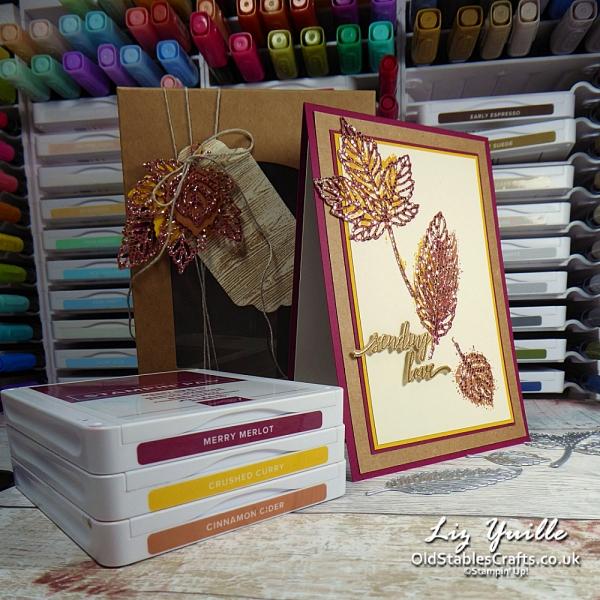 Gorgeous Leaves for One Stamp at a Time Design Team Blog Hop OldStablesCrafts.co.uk
