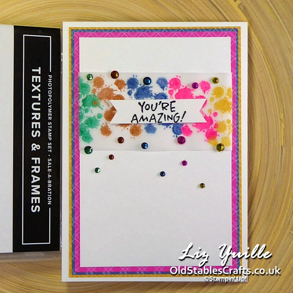 #SimpleStamping Saturday Textures and Frames OldStablesCrafts.co.uk