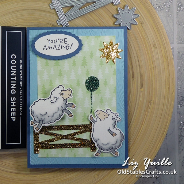 YouTube Live Crafting REPLAY with Liz - Counting Sheep Wobble Card OldStablesCrafts.co.uk