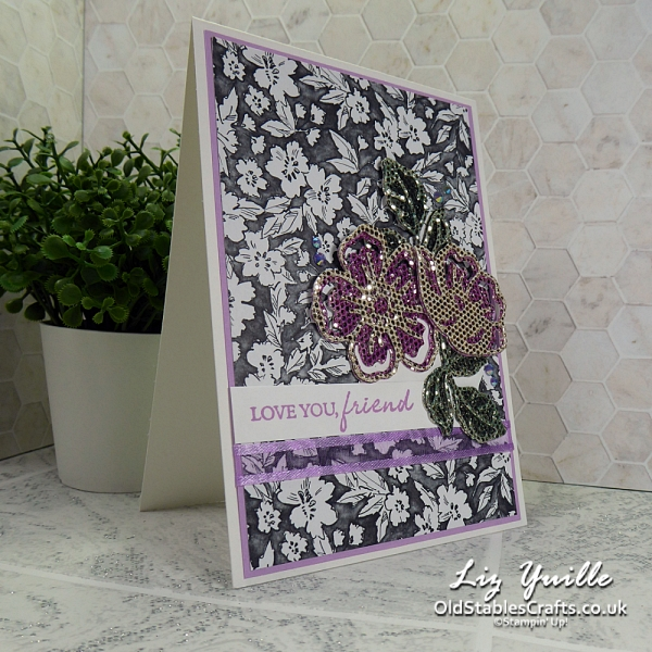 Sale-a-Bration Countdown - Summer Shadows, Be Dazzling, Beautifully Penned DSP Stampin Up OldStablesCrafts.co.uk