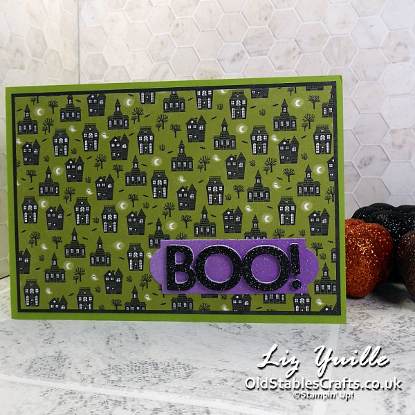 Fancy Fold Cute Halloween with Festive and Bright for Stampin' Up! OldStablesCrafts.co.uk