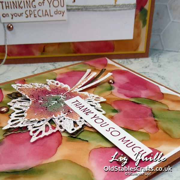 YouTube Live Crafting REPLAY with Liz - Featuring the Gorgeous Leaves Bundle OldStablesCrafts.co.uk